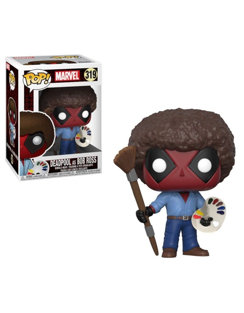 Figura Funko Pop Marvel Deadpool As Bob Ross 319